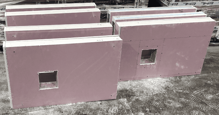 Off Site Production | Prefabricated Partitions Above Bathroom Pods